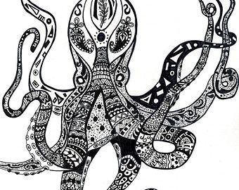 octopus adult coloring page Google Search Adult