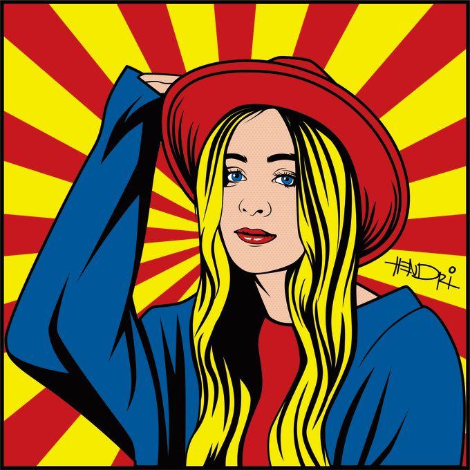 draw CLASSIC pop art portrait by hendripiss