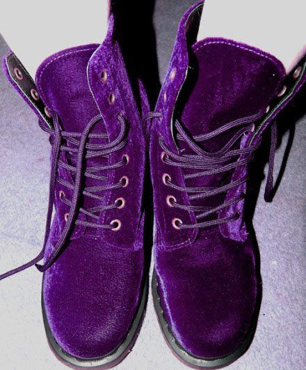 purple velvet doc martens...I want