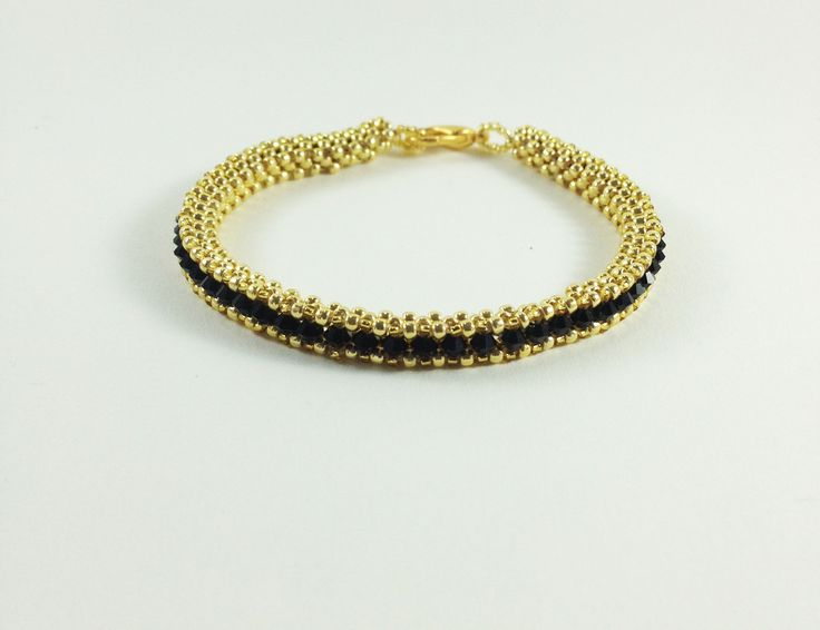cubic right angle weave - riviera bracelet