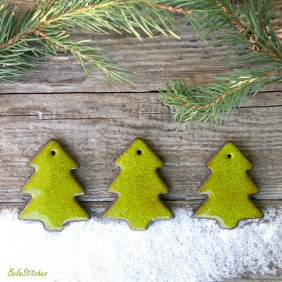 Bela Stitches: ceramic Christmas Tree ornaments