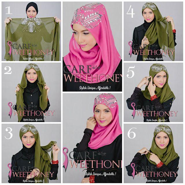 Hijab Tutorial ~ Scarf Sweethoney - Bawal Scarf NADEERA