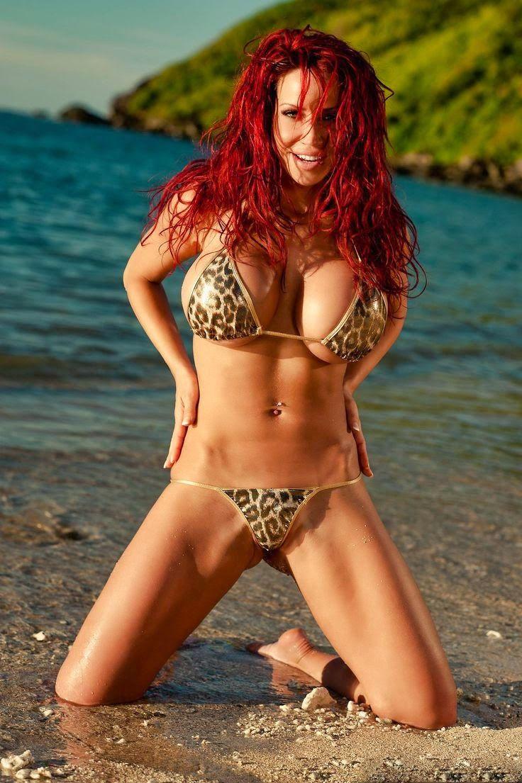 Dem Hot: Smoking Hot Redhead Girl Looking Hot In Leopard Bi...