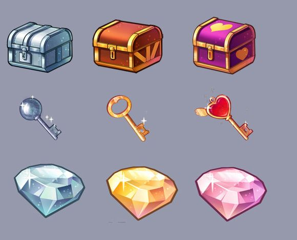 UI video game elements - jewel