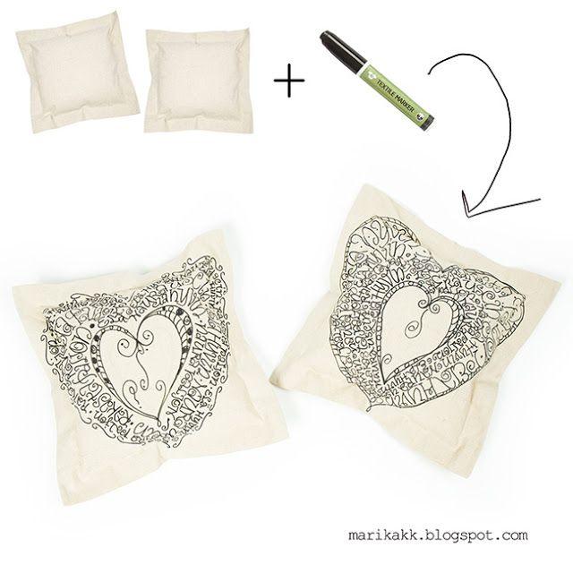 easy pillow case - helppo diy tyynynpäällinen