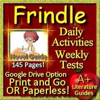 Frindle Google Novel Study Unit Print AND Paperless Google