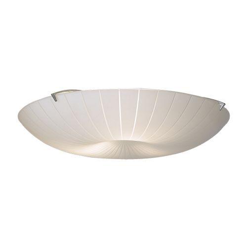 CALYPSO Plafond IKEA Det frostede glasset gir et blendefritt generelt lys som er behagelig for øynene.