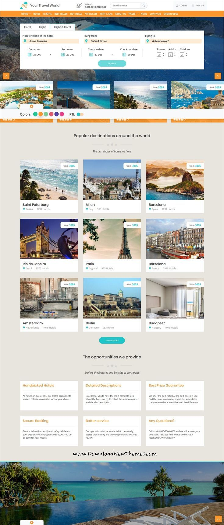 Ytw Online Travel Booking Html Template Online Travel Booking