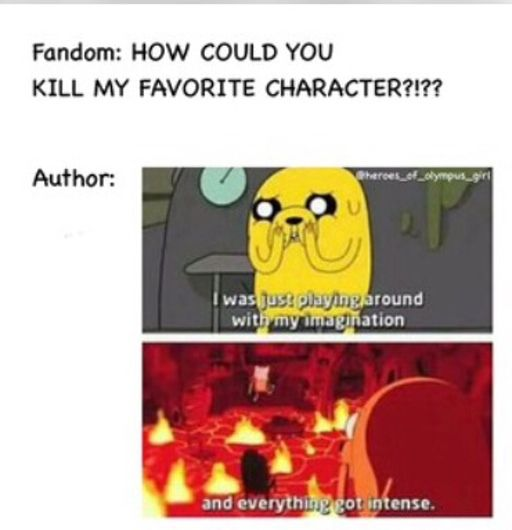 Newt. Chuck. Teresa. Zoe Nightshade. Bianca Di Angelo. Selena. Beckendorf. Bob. Tris. Uriah. Primrose. And so much more!!!<<<<Enzio, finnick, tonks, lupin, dobby, hedwig, dumbledor, serious black, fred,colin creevy, james, lily,    SNAPE>>> ghastly, spring heeled Jack, Billy-Ray!