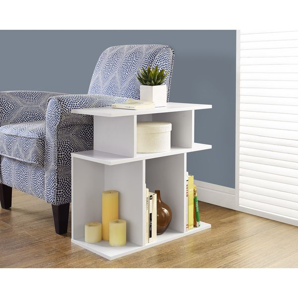 White Accent Side Table - Overstock™ Shopping - Great Deals on Coffee, Sofa & End Tables