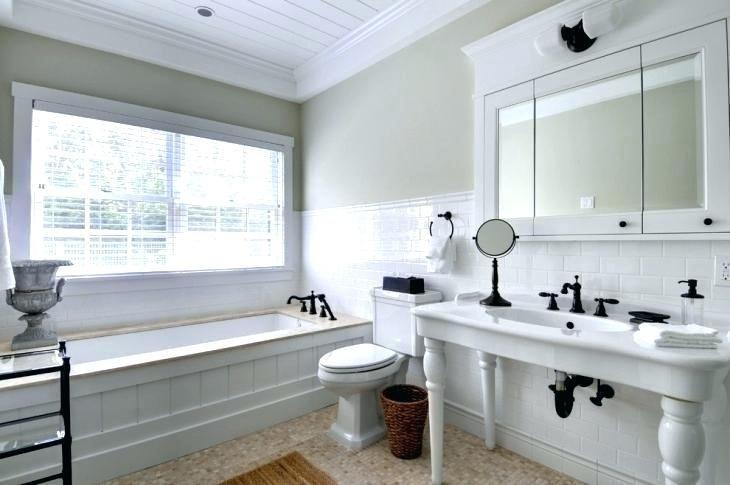 Wainscoting Height Bathroom Subway Tile Wainscoting Tile