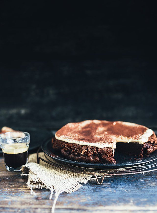 Chokoladekage med tiramisucreme