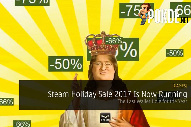 The Steam Holiday Sale 2017 is now up and running. Time to burn a hole through your wallets one last time before the year arrives. I mean, why not right?   Share this:   Facebook Twitter Google Tumblr LinkedIn Reddit Pinterest Pocket WhatsApp Telegram Skype Email Print