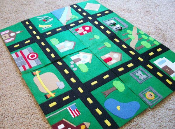 play car mat ideas (i love Target! lol! Liam would go nuts)