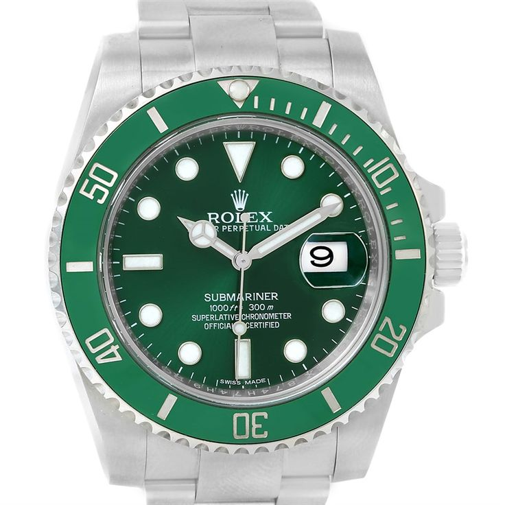 Rolex Submariner Hulk Green Dial Automatic Steel Mens Watch 116610LV