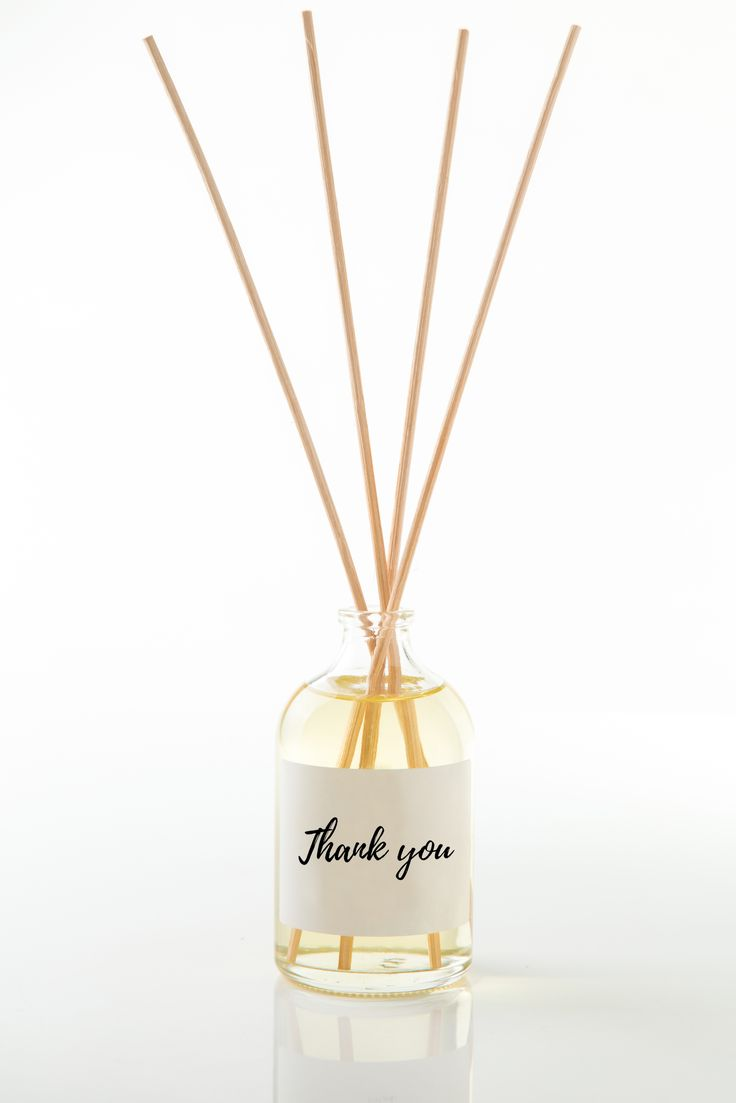 handmade lavender and lemongrass diffuser with custom made label, personalised christmas birthday and wedding gift