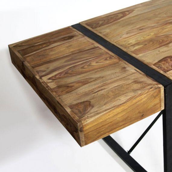 Table A Manger Avec Allonges En Acacia Fonce Table A Manger Table A Manger Avec Rallonge Table De Salle A Manger Bois