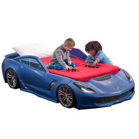 Buy Step2 Corvette Z06 Toddler To Twin Car Bed Blue at Walmart.com