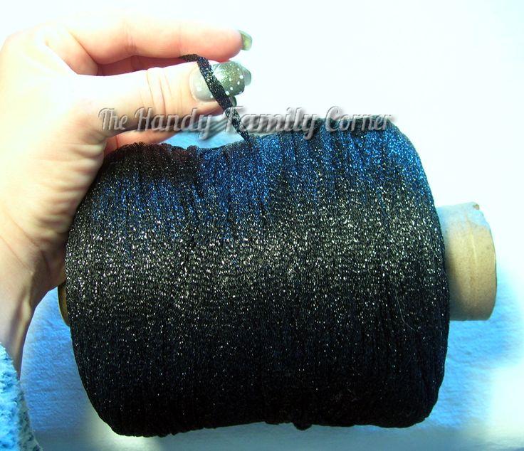 Glitter Lurex Yarn, Shine, sparkle yarn, glamor yarn, black color Hobbi yarn, metal yarn, lame, cone yarn, wholesale yarn by HandyFamily on Etsy