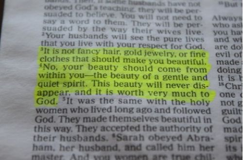 1 Peter 3:3-4. Every girl should have this framed in their bedroom & bathrooms!