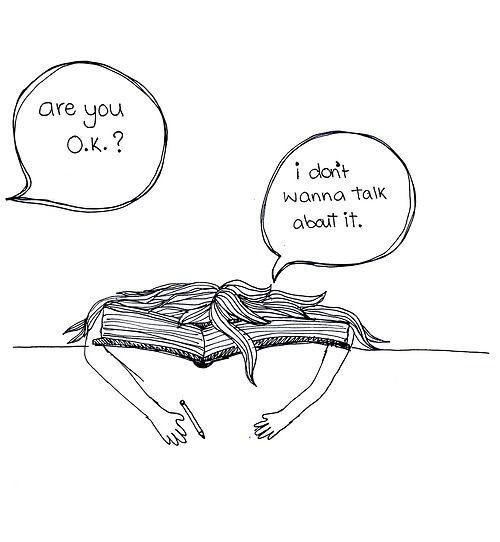Sometimes, I want to scratch holes through the pages.