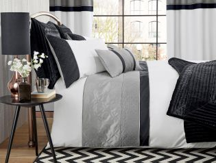 Silver Quilted Panel Bed Set from Next
