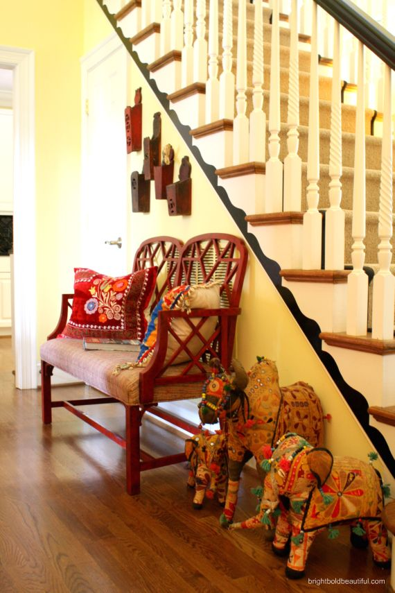 Anne Brasfield Home Tour   Bohemian/Tribal/Ethnic Style   Bright Bold and Beautiful blog
