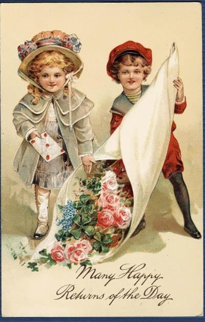 322 best images about vintage cards postcards photos for Vintage geburtskarten