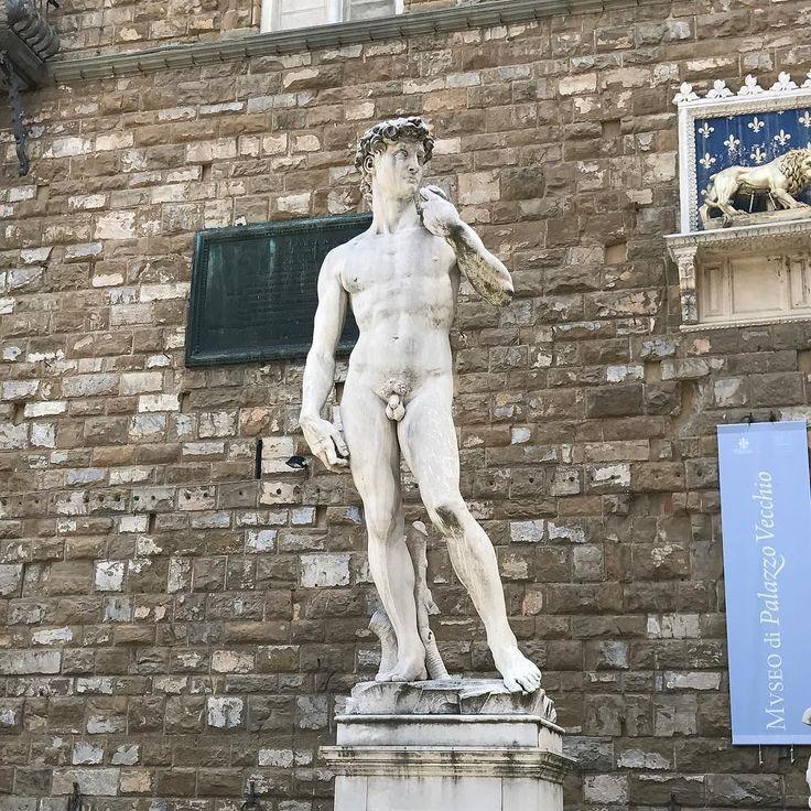 Nudist alert!  #david #michelangelo #florence #tourist #naked #statue #italy