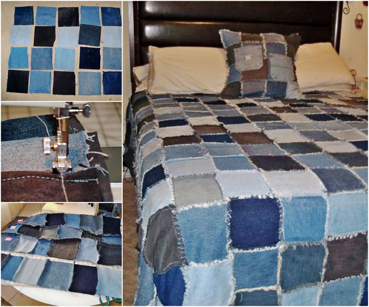Denim Frayed Quilt Tutorial