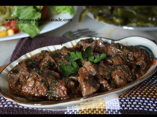 Foie en sauce / Kebda mchermla - Les joyaux de sherazade : Recettes de cuisine algerienne et de monde.