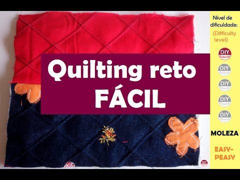 Quilting reto FÁCIL (DIY tutorial) - YouTube