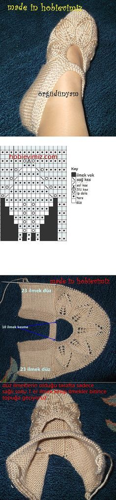 Туфельки. | вязание | Постила