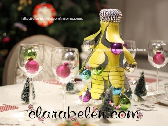 Espejos redondos cucharas buscar con google christmas - Como hacer adornos navidenos ...
