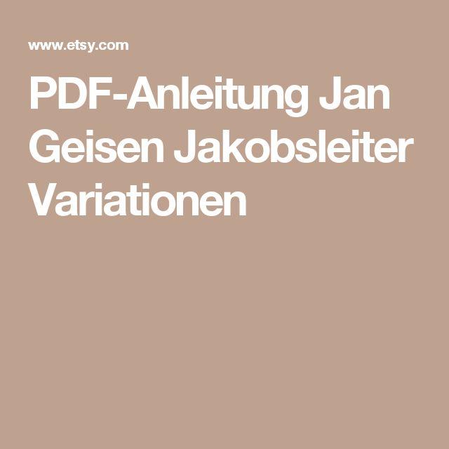 PDF-Anleitung  Jan Geisen Jakobsleiter Variationen