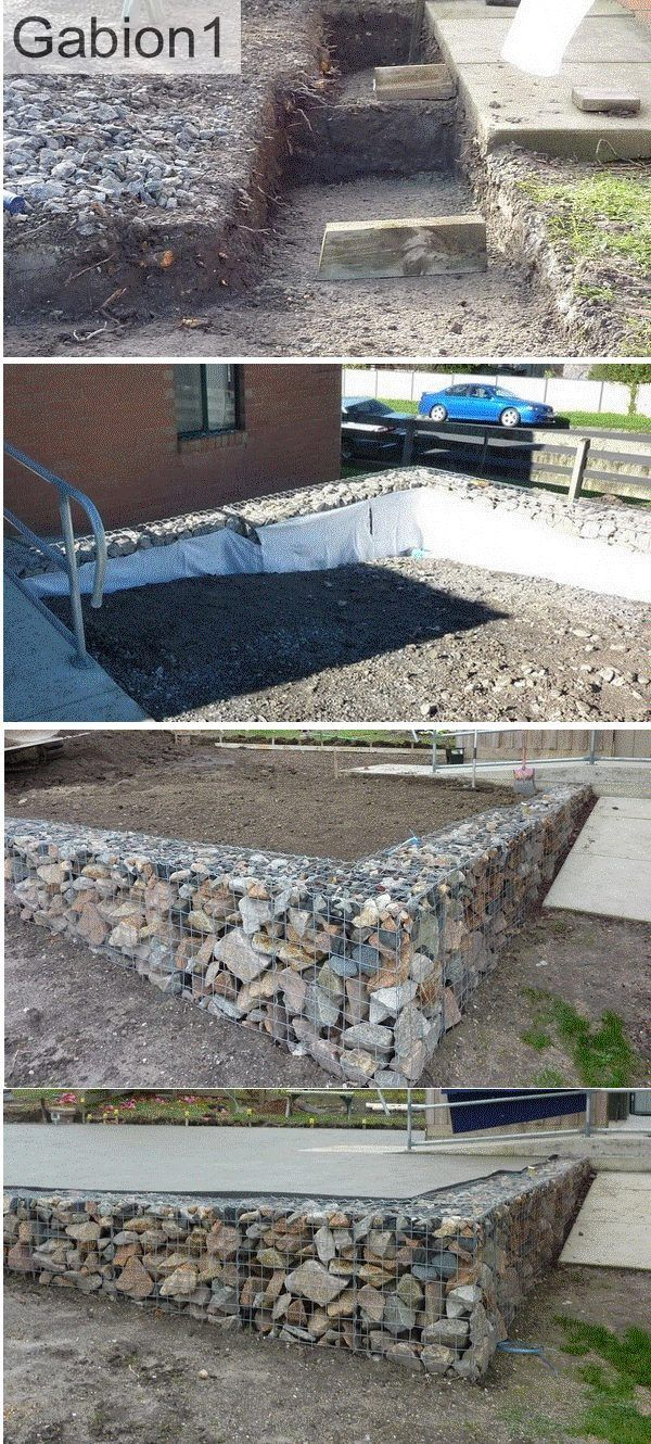 low stepped gabion retaining wall, supports new carpark. http://www.gabion1.com
