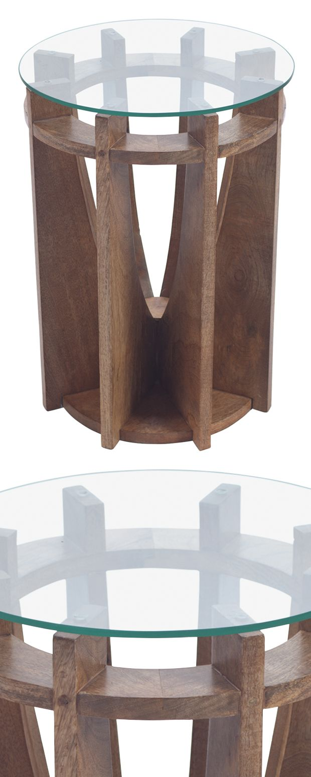 A rustic-modern design combined with an ethereal glass surface creates a truly unique product, as the Cavaedia End Table makes its home in a variety of settings. It'll bring a little earthiness to your...  Find the Cavaedia End Table, as seen in the Warm & Modern in California Collection at http://dotandbo.com/collections/warm-and-modern-in-california?utm_source=pinterest&utm_medium=organic&db_sku=118563