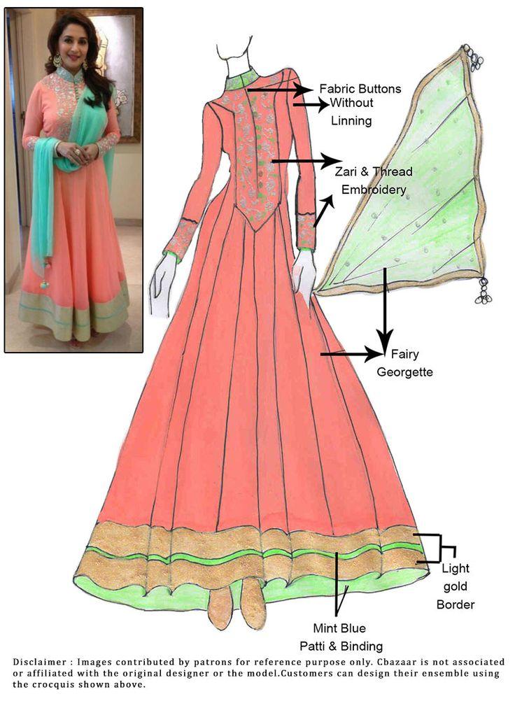 DIY Madhuri Dixit Anarkali Suit