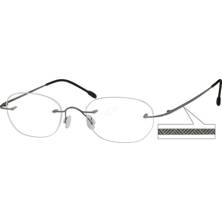 A rimless, titanium, very light and flexible frame with Designer Temples.    This frame is shown with lens shape #227. P...Price - $39.95-unqLHPIy