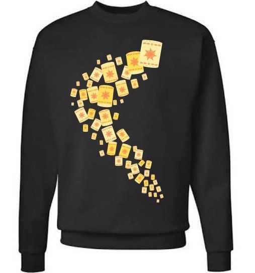 Tangled Floating Lantern scene sweatshirt