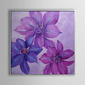 Floral Blue and Purple Flowers Framed Oil Pai... – AUD $ 118.05