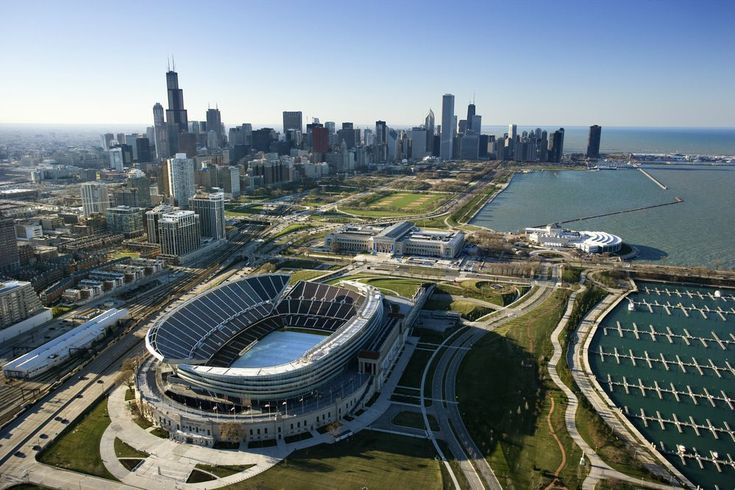 Solder Field with the Chicago skyline highlighting the background.  My favorite view of the city.  GO BEARS!!