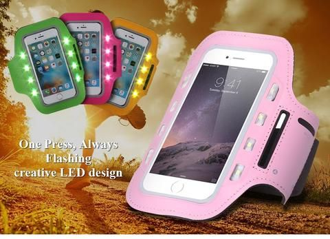 LED Sports Armband Case for iPhone 6 6 Plus 6s 6s Plus