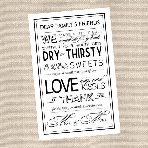 Instant Download Hotel Welcome Bag Thank You by DesignsByDVB, $4.00