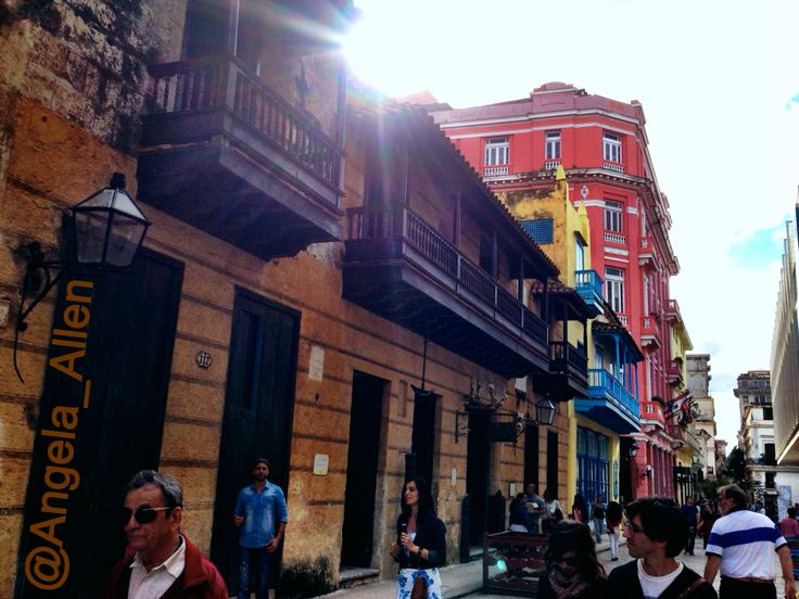 Ernest Hemingway resided in the top of this building on the corner. The brown building is the oldest apartment in Havana