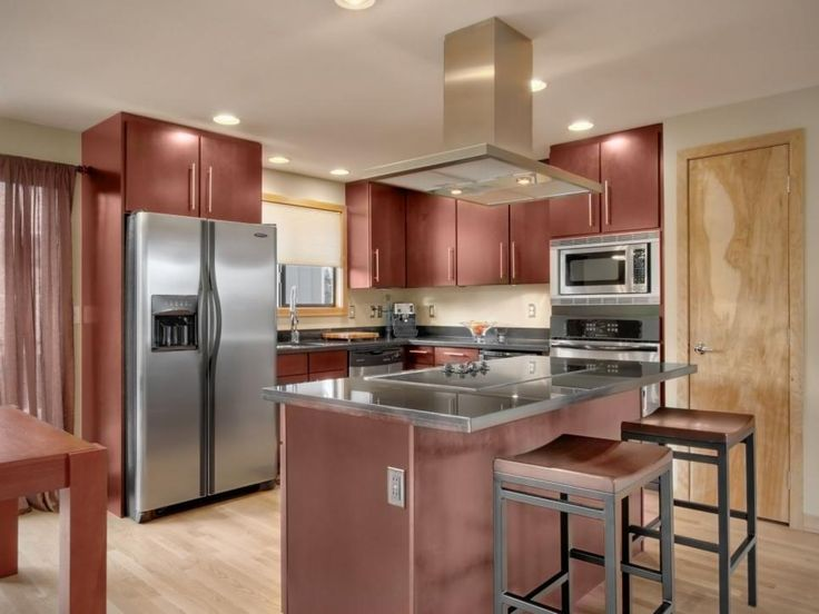 Best Layout Dark Cherry Wood Cabinets And An Island Pair Nicely 640 x 480