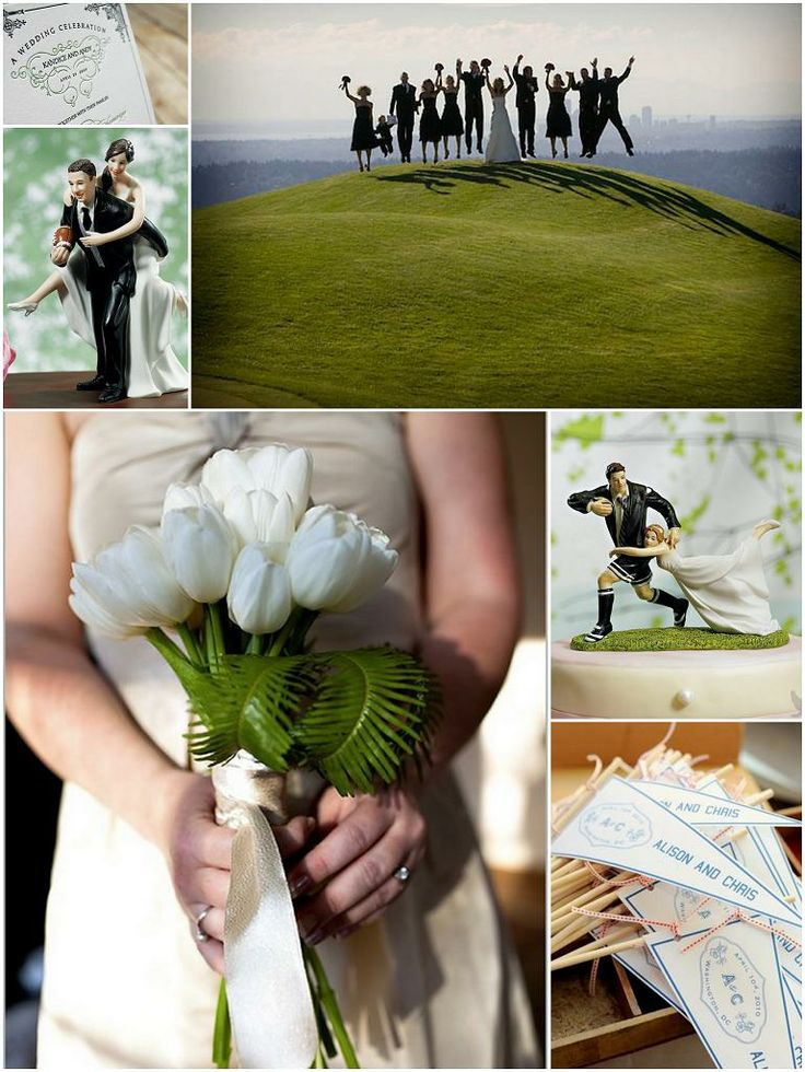 42 best weddings images on pinterest football wedding soccer fun soccer themed wedding cake topper with a manchester united team themethe comical resinlike bride junglespirit Images