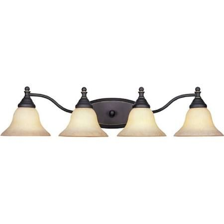 Visit The Home Depot To Buy Cordelia Lighting Ellsworth Collection 4 Light  Wall Mounted Aged Bronze Patina Vanity