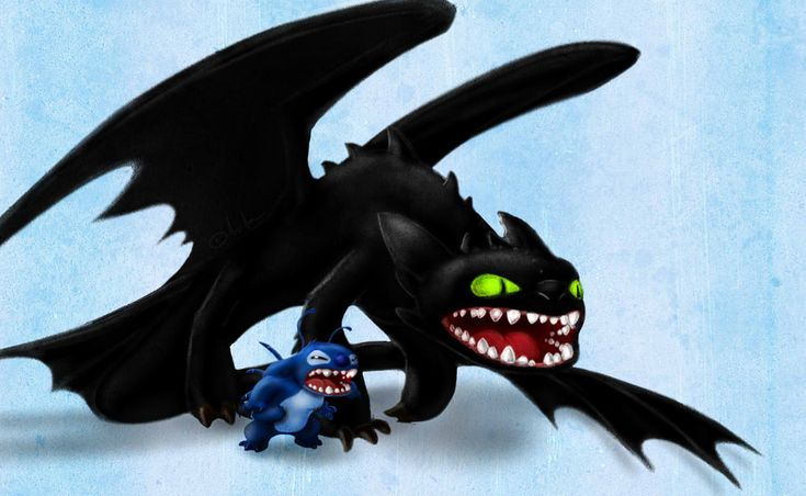 Stitch and Toothless by Arvata.deviantart.com on @deviantART  for little dude