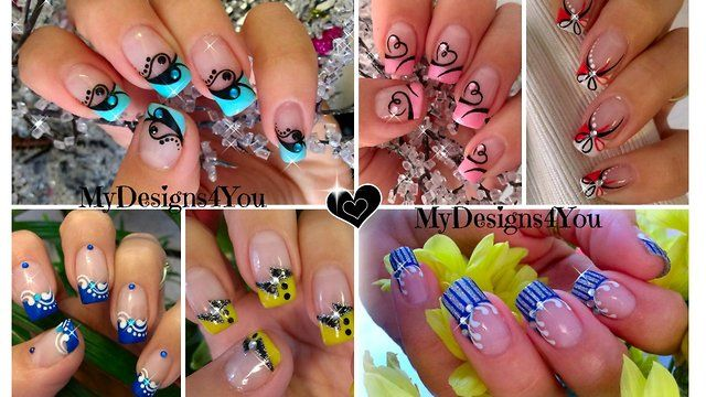 A beautiful compilation of french tip nail art designs by MyDesigns4You. Enjoy!